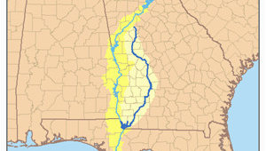 Flint River Georgia Map Lake Seminole Revolvy