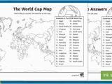 Football Teams In England Map the World Cup Map Worksheet the World Cup Map Worksheet