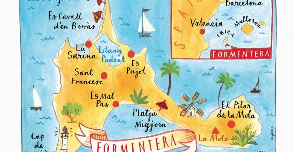 Formentera Spain Map Funky formentera Far Far Away Ibiza formentera formentera Spain