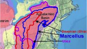 Fracking Ohio Map Map Showing Newly Tapped Upper Devonian Shale A Layer A Few Hundred