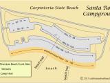France Campsites Map Map Of Santa Rosa Campground In Carpinteria State Beach Ca