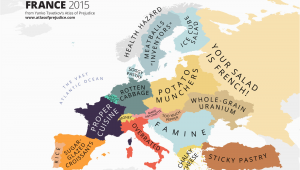 France On A Map Of Europe Culinary Map Of Europe According to France Information is