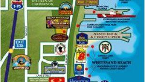 Frankenmuth Michigan Map Puremichigan Map Of Mackinaw City I Love Michigan Pinterest
