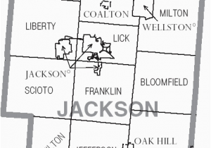 Franklin County Ohio township Map File Map Of Jackson County Ohio with Municipal and township Labels
