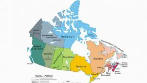 French Map Of Canada with Capitals Canadian Provinces and the Confederation