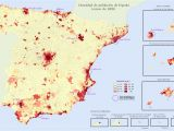 Geographical Map Of Spain Quantitative Population Density Map Of Spain Lighter Colors