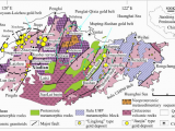 Geological Map Of Alabama Simplified Geological Map Of the Jiaodong Peninsula Showing Location