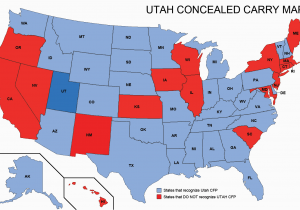 Georgia Carry Reciprocity Map Utah Concealed Weapons Permit Reciprocity Map Misc Pinterest