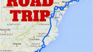 Georgia East Coast Map the Best Ever East Coast Road Trip Itinerary Road Trip Ideas
