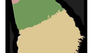 Georgia Habitats Map Natural History by Uga Habitats Of Georgia Georgia Focus