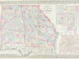 Georgia Maps with Counties 1881 County Map Of Georgia and Alabama S Mitchell Jr Products