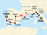Georgia Power Map Rome to Lisbon On A Shoestring In Spain Europe G Adventures