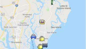 Georgia Sea islands Map St Simons island Map Google My Maps