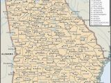 Georgia State Map Counties State and County Maps Of Georgia