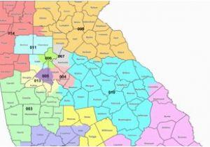 Georgia State Senate Map Map Georgia S Congressional Districts