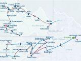 Georgia Wine Highway Map From China to Black Sea tour China Kyrgyzstan Kazakhstan