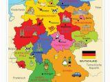 German Language Map Of Europe Premium Poster Bundeslander Fur Kinder Schule Germany