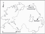 Giants Causeway Ireland Map Locality Map Of Giant S Causeway On the north Coast Of