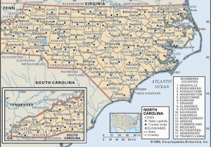Gold north Carolina Map State and County Maps Of north Carolina
