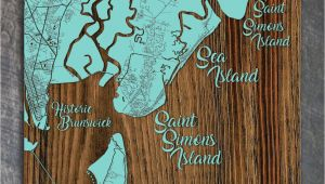 Golden isles Of Georgia Map Golden isles Georgia Whimsical Map Fire Pine
