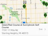 Golf Courses In Michigan Map Golf Course Directory Usa by Vinay Pallegar