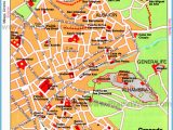 Granada Spain Map tourist Spain Map tourist attractions Travelsfinders Com A