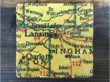 Grand Ledge Michigan Map Lansing Michigan Map Coaster with Cork Backing Charlotte Grand Etsy