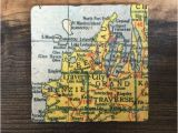 Grand Ledge Michigan Map Traverse City Michigan Map Coaster with Cork Backing Leelanau Etsy