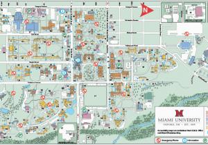 Heath Ohio Map Oxford Campus Maps Miami University
