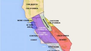 High Desert California Map Best California State by area and Regions Map