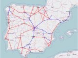 High Speed Trains In Spain Map Rail Map Of Spain and Portugal