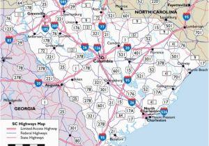 Highway Map Of north Carolina Map Of south Carolina Highways