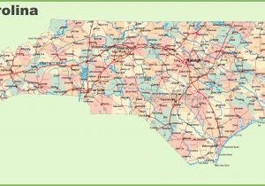 Highway Map Of north Carolina Road Map Of north Carolina with Cities