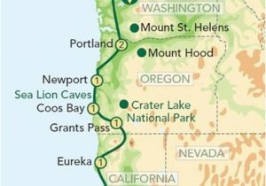 Highway Map Of oregon Map oregon Pacific Coast oregon and the Pacific Coast From Seattle