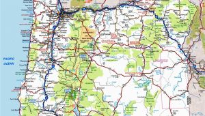 Highway Map Of oregon State oregon Road Map