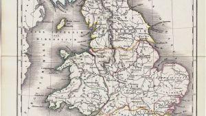 Historic Maps England 1825 Antique Map Of Ancient Great Britain original Antique