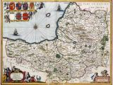 Historic Maps England 400 Year Old Map Of somerset Circa 1648 Mapmania Map