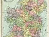Historical Map Of Ireland Ireland Map Vintage Map Download Antique Map C S