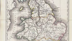 Historical Maps Of England 1825 Antique Map Of Ancient Great Britain original Antique