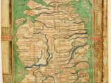 Historical Maps Of England Map Of England and Scotland Circa 1250 History Map Of
