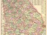 Historical Maps Of Georgia 1901 Antique Georgia State Map Vintage Map Of Georgia Gallery Wall