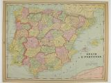 Holland Map In Europe Vintage Spain Map Portugal Holland Map Belgium Denmark Map