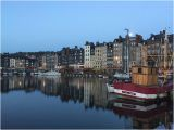 Honfleur France Map Moon Setting and Sunrise One Hour Later Picture Of Le