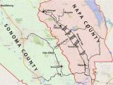 Hot Springs southern California Map Wine Country Map sonoma and Napa Valley