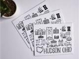 Hudson Ohio Map Hudson Ohio Map Print Fiber and Gloss