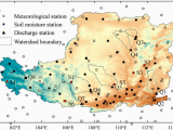 Humidity Map Europe Location Of Study area Meteorological Stations soil