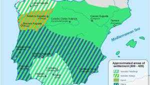 Iberia Spain Map Iberia 409 429 History Stuff Spain History Map Of Spain Roman