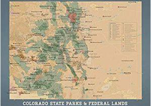 Ignacio Colorado Map Amazon Com Best Maps Ever Colorado State Parks Federal Lands Map