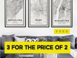 Ikea Italy Map City Map Prints 3 for the Price Of 2 Modern Contemporary Poster In