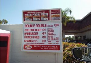 In N Out California Map Menu Board Prices as Of April 2015 Picture Of In N Out Burger